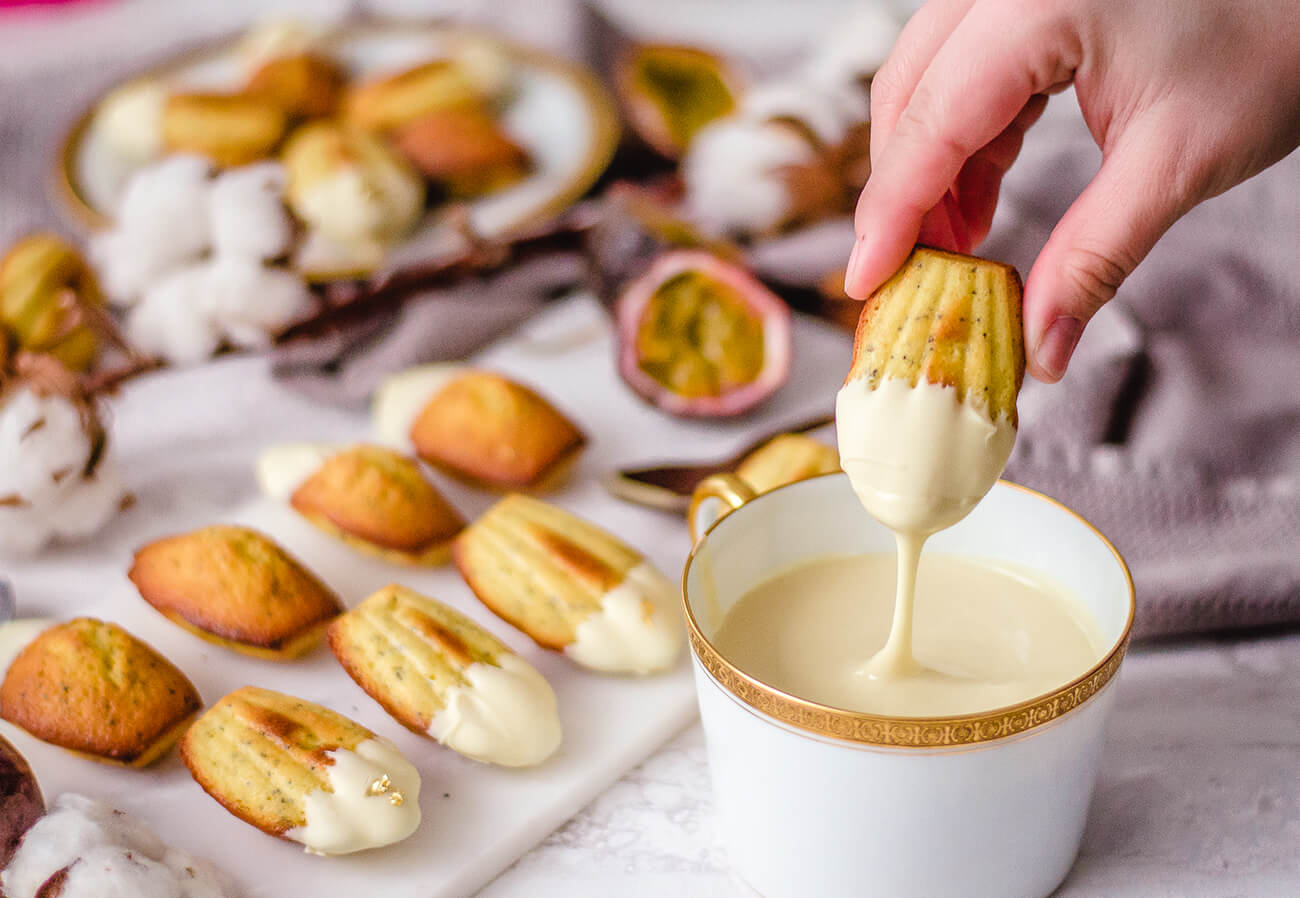 Passion Fruit Madeleines